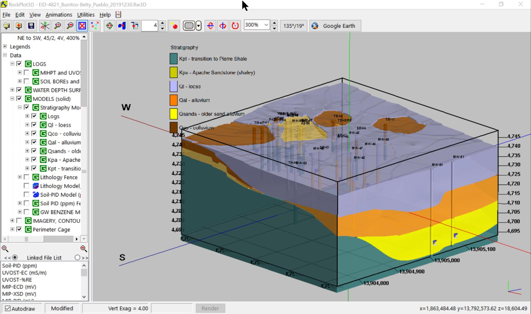 Stratigraphy block model