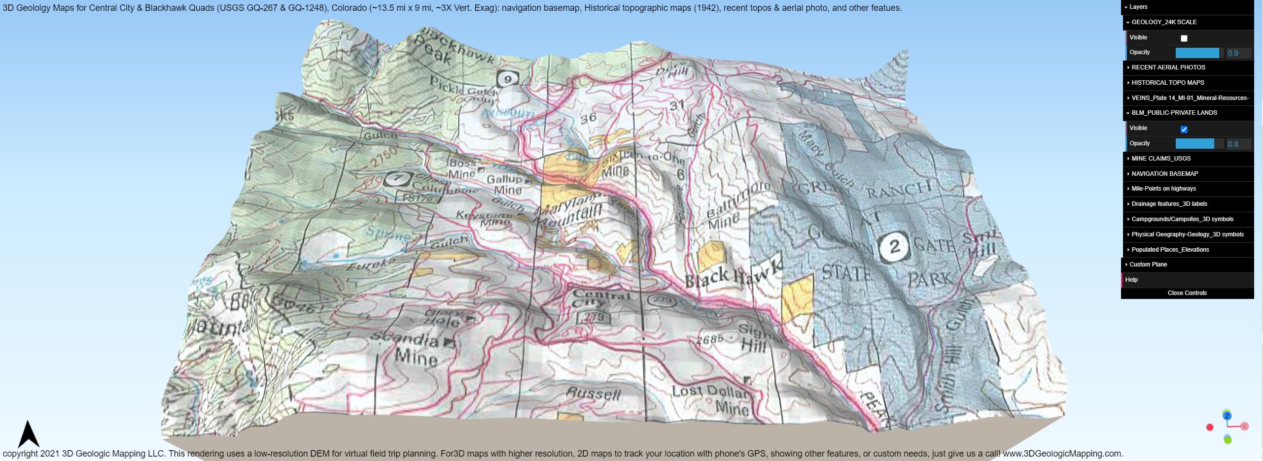 Land ownership overlay