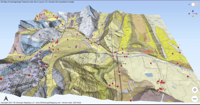 3D Map of Hydrogeologic Features